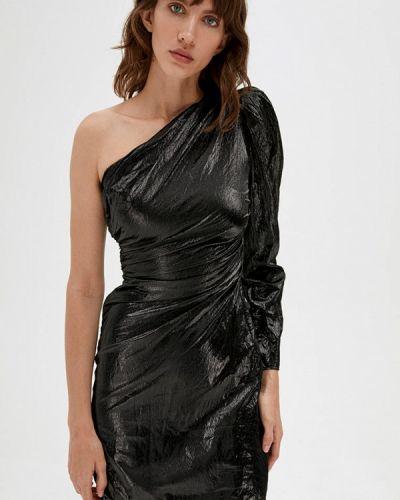 Прямое черное платье Lime