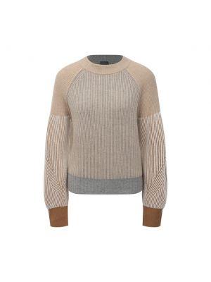 Кашемировый пуловер - бежевый Lorena Antoniazzi