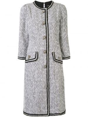 Серебряное прямое приталенное платье на кнопках Andrew Gn