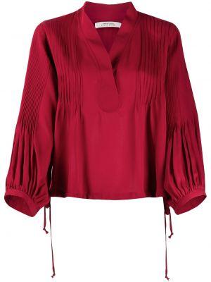 Красная шелковая блузка свободного кроя Dorothee Schumacher