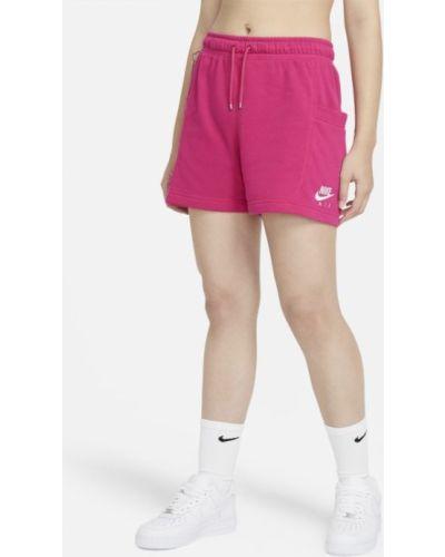 Ze sznurkiem do ściągania różowy szorty z kieszeniami Nike