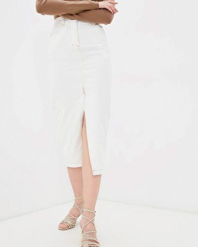 Джинсовая юбка - белая Zarina
