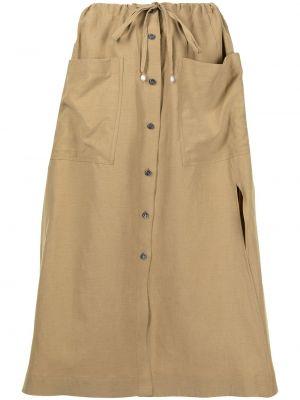 Хлопковая юбка на пуговицах с разрезом Altuzarra