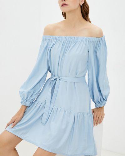 Голубое зимнее платье Elena Andriadi