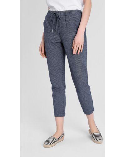 Зауженные синие брюки на резинке Ostin
