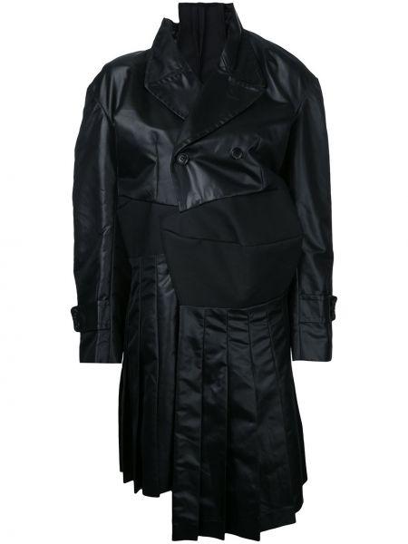 Czarny trencz bawełniany asymetryczny Comme Des Garçons Pre-owned