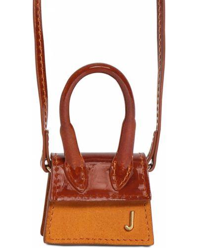 Кожаная сумка с ручками с логотипом Jacquemus