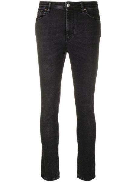 Bawełna czarny zawężony obcisłe dżinsy z kieszeniami Acne Studios