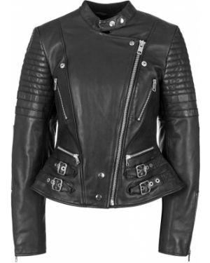 Кожаная куртка черная Diesel