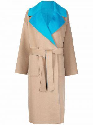 Шерстяное пальто - коричневое Essentiel Antwerp