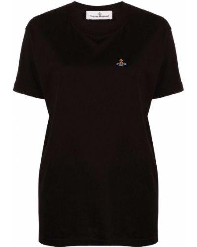 Черная прямая футболка Vivienne Westwood
