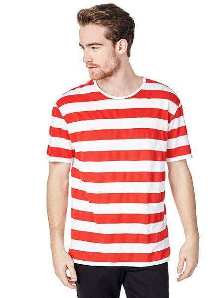 Koszula krótkie z krótkim rękawem w paski z paskami Guess