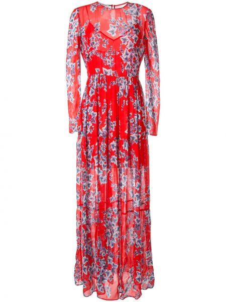 Платье на пуговицах с цветочным принтом Philosophy Di Lorenzo Serafini