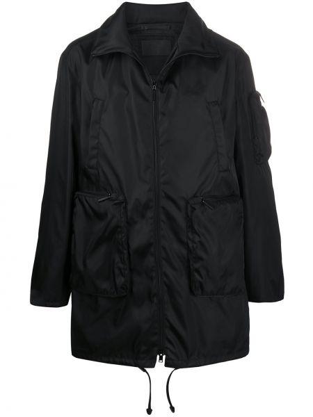 Płaszcz przeciwdeszczowy z kieszeniami długo Prada