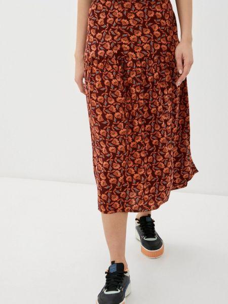 Бордовая юбка Blendshe