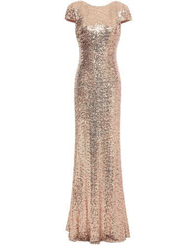 Sukienka tiulowa z cekinami Badgley Mischka
