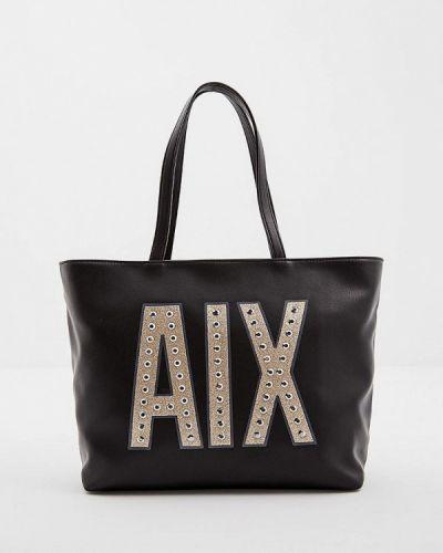 Кожаный сумка с ручками Armani Exchange