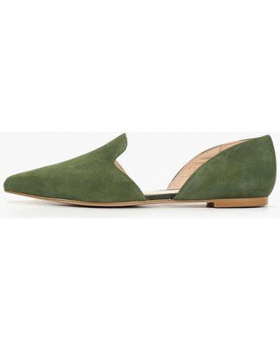 Замшевые туфли зеленый Zign