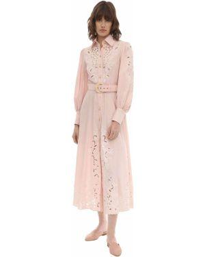 Платье миди с вышивкой макси Zimmermann