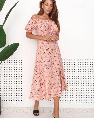 Платье из штапеля - розовое Nenka
