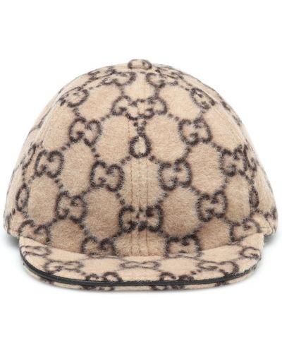 Wełniany brązowy czapka Gucci Kids