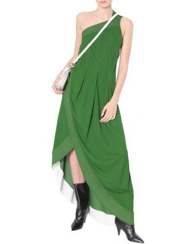 Sukienka długa bez rękawów - zielona Givenchy