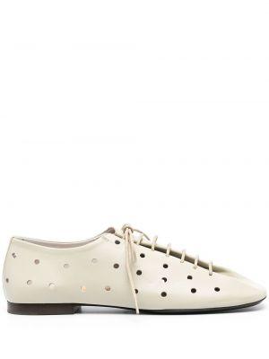 Брендовые кожаные туфли на каблуке Lemaire