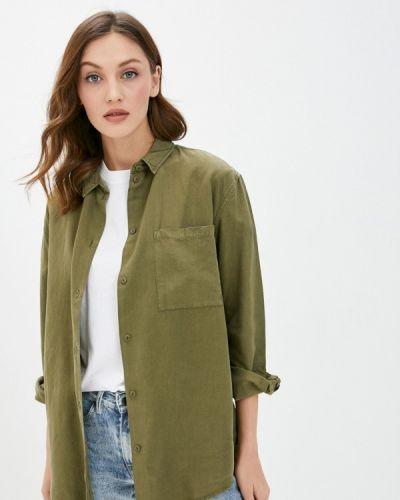 Зеленая с рукавами рубашка Quiksilver