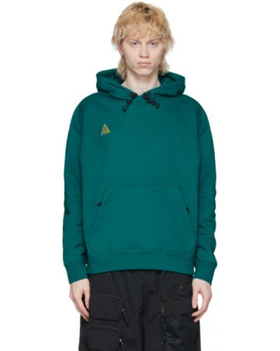 Хлопковый черный пуловер с капюшоном Nike Acg