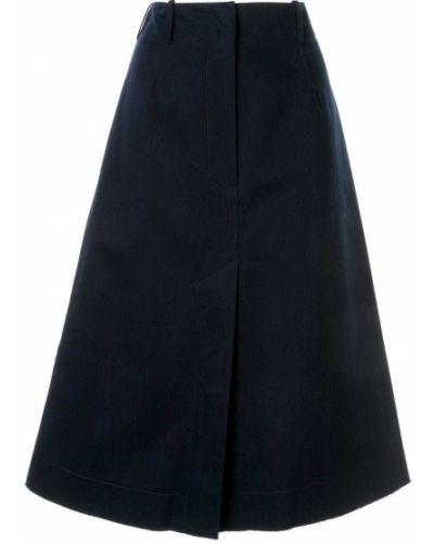 Niebieska spódnica z paskiem bawełniana Cedric Charlier