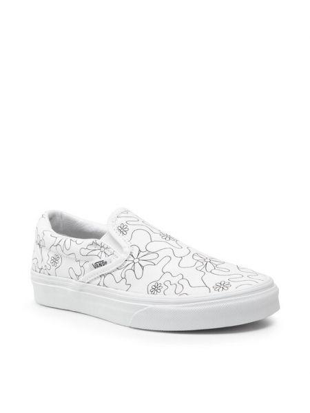 Białe slipy Vans