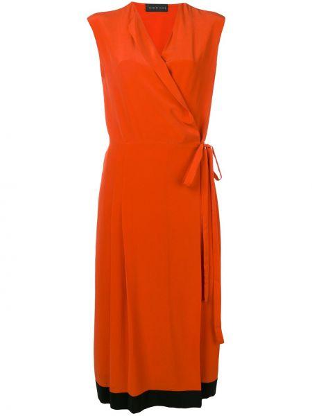 Платье миди на запах - оранжевое Cashmere In Love