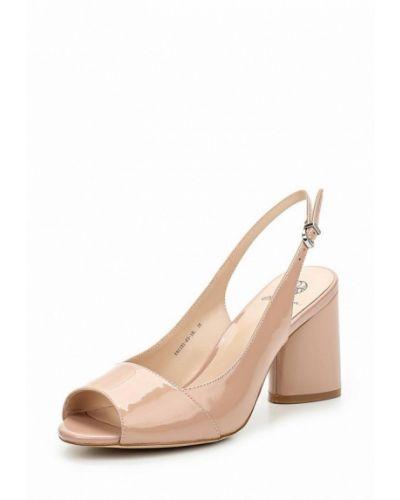 Розовые босоножки на каблуке Ekonika