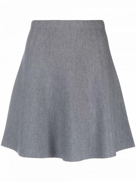 Серая шерстяная юбка Theory