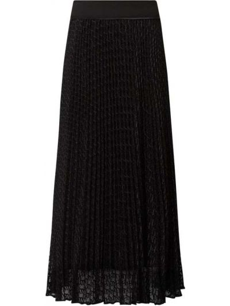 Czarna spódnica midi rozkloszowana tiulowa Tommy Hilfiger