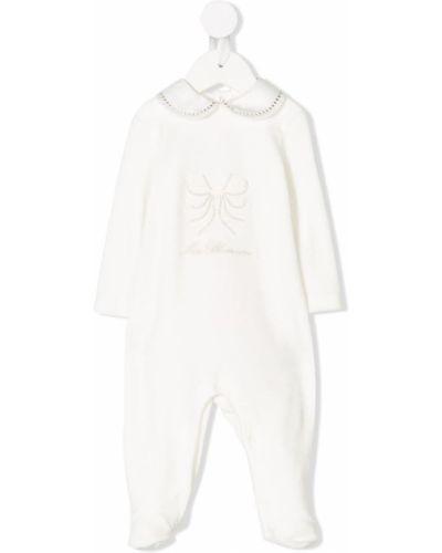 Пижама белая с воротником Miss Blumarine