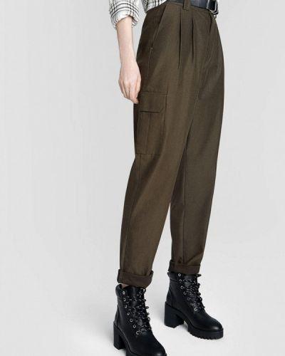 Зеленые брюки карго O'stin