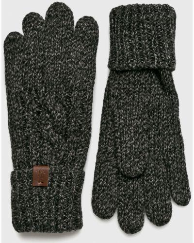 Черные перчатки трикотажные Barts