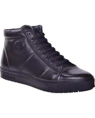 Кеды черные кожаный Baldinini