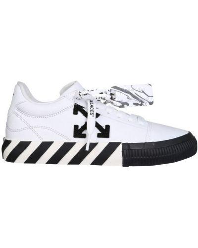 Sneakersy sznurowane koronkowe bawełniane Off-white