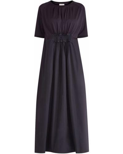 Платье миди приталенное с оборками Moncler