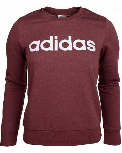 Bawełna czerwony z rękawami bluzka Adidas