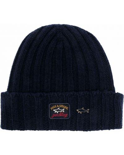 Шерстяная шапка бини - синяя Paul & Shark