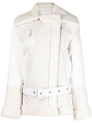 Кожаная куртка на молнии - белая Mr & Mrs Italy