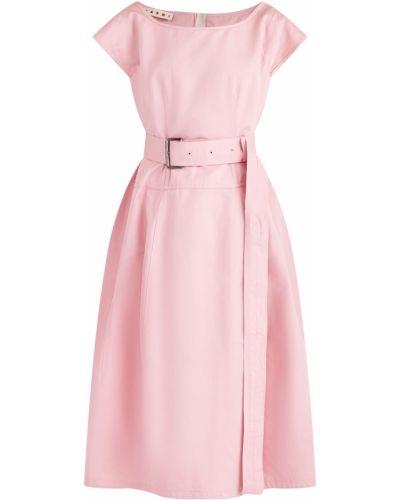 Платье миди с поясом с вырезом Marni