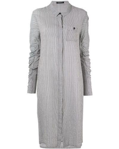 Платье макси с длинными рукавами - серое Rundholz