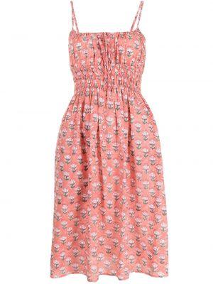 Różowa sukienka w kwiaty bawełniana Ciao Lucia