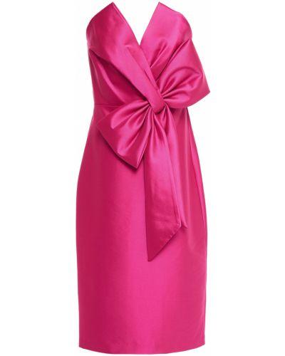 Розовое платье без бретелек на крючках Badgley Mischka