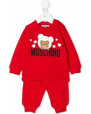 Спортивный костюм костюмный красный Moschino Kids