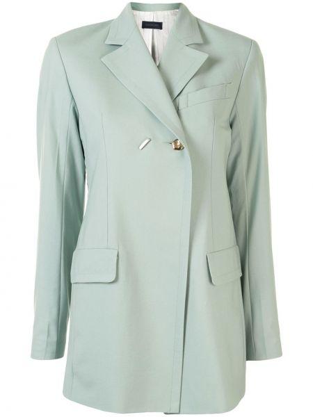 Шерстяной однобортный удлиненный пиджак с карманами Eudon Choi